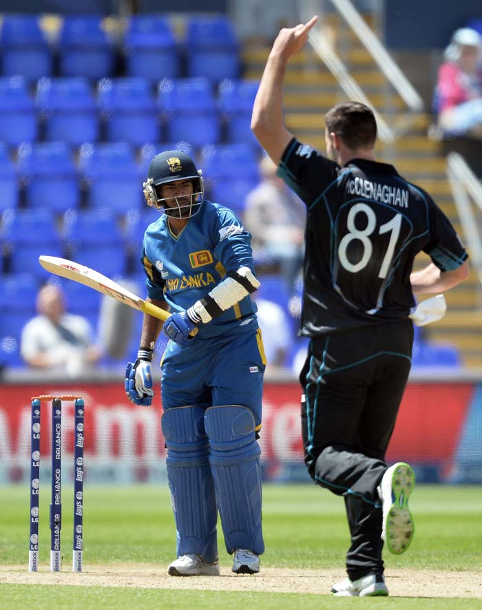 Mitchell McClenaghan was the pick of the bowlers for New Zealand - picking 4/43 - his best bowling figures against Sri Lanka.