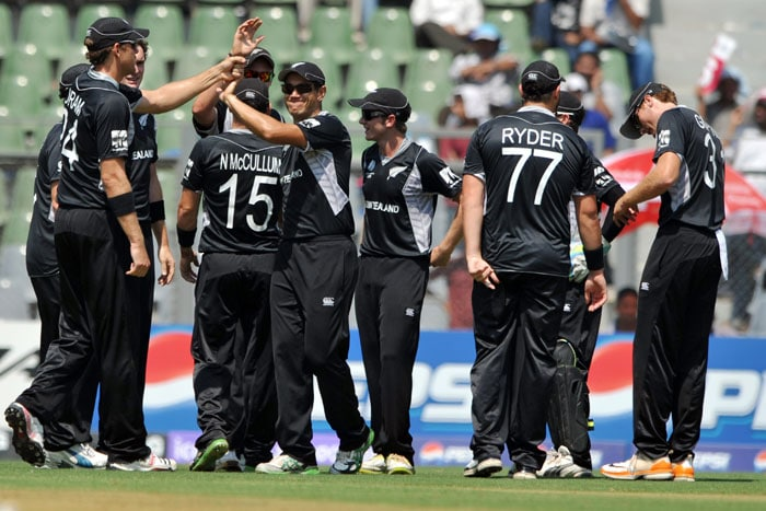 New Zealand registered a 97-run win over Canada who made them work hard for the victory, in the group A match at the Wankhede Stadium in Mumbai.