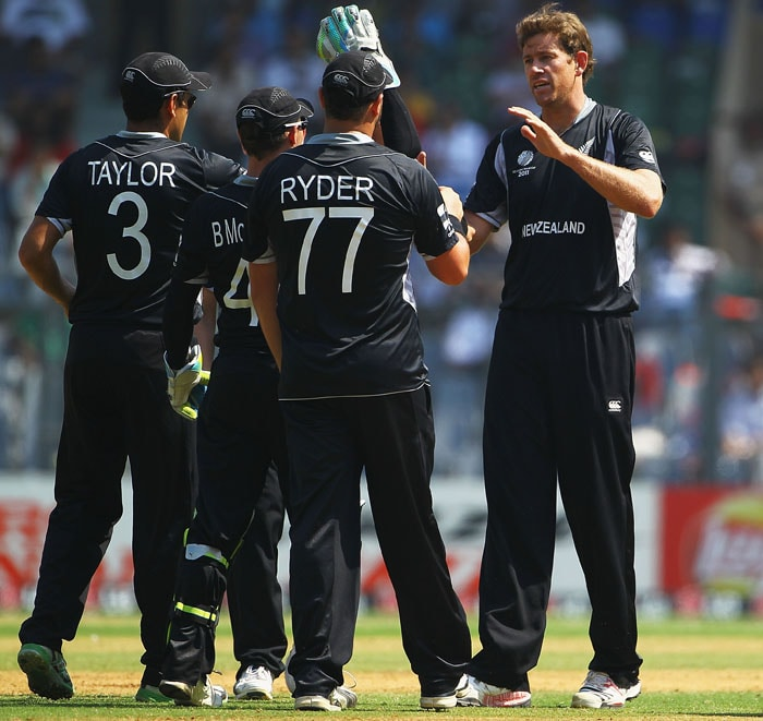 Jacob Oram was the pick of the bowlers for New Zealand, capturing 3 wickets at the cost of 47 runs.