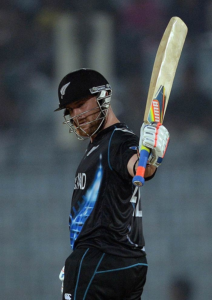 Chasing a tricky total of 152, New Zealand lost a few wickets and failed to get going at the start. It took McCullum to score a 45-ball knock of 65 to ensure his side recorded their second win of the tournament.