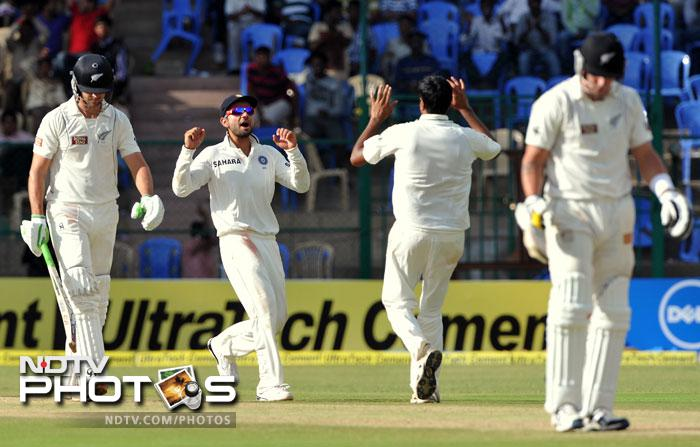 It was all India thereafter as Ashwin got stuck into the New Zealand middle and lower-middle order to grab a five-wicket hall. This helped the Men in Blue to restrict the Black Caps, who once looked to set a target around 300. Eventually they finished the day 244 runs ahead and a wicket in hand.
