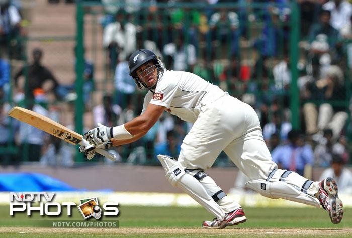 Skipper Ross Taylor led from the front in New Zealand's first innings and started on a promising note in the second too till his favourite shot the slog sweep did him in. He was out Lbw to Pragyan Ojha.
