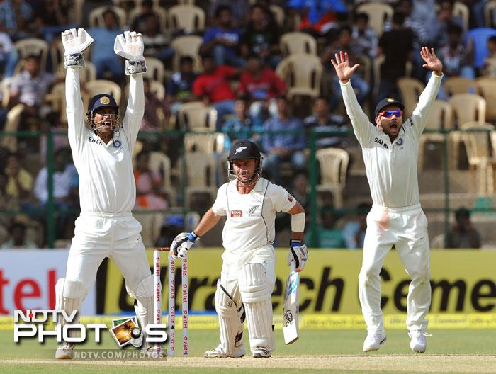 Wicket-keeper and first innings mainstay along with Taylor, Kruger van Wyk, looked threatening for a while. Umesh Yadav then rattled him with a few bouncers and balls into the rib-cage. He was eventually trapped in-front by Ashwin on 31.