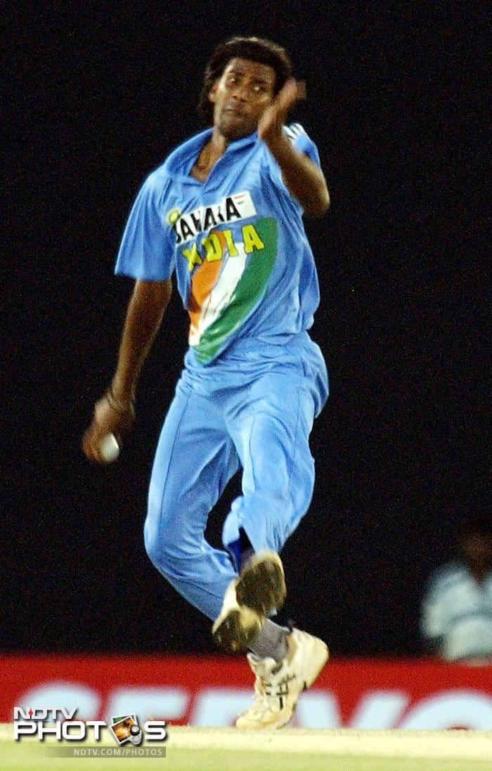 <b>Lakshmipathy Balaji</b> last played for India in an inconsequential ODI against Sri Lanka in 2009. Then, he bowled just 5 overs and gave away 32 runs. India lost the match. Since, Balaji has performed well in T20s in IPL. In 68 matches he has amassed 75 wickets at a decent average of 22.92 and thus got a well deserved place. (All AFP Photos)