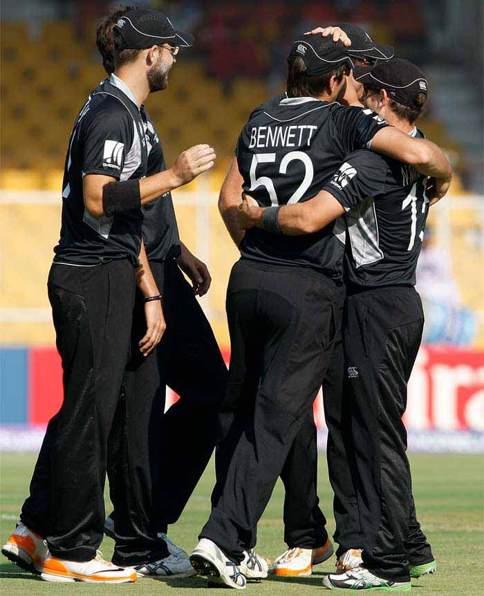 Zimbabwe had the worst possible start when they lost Charles Coventry when he was run out. (Getty Images)