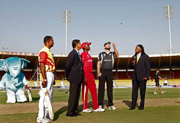 Zimbabwe captain Elton Chigumbura had won the toss and had elected to bat first on a Motera pitch which was expected to be extremely flat except for the early assistance to the seamers. (Getty Images)