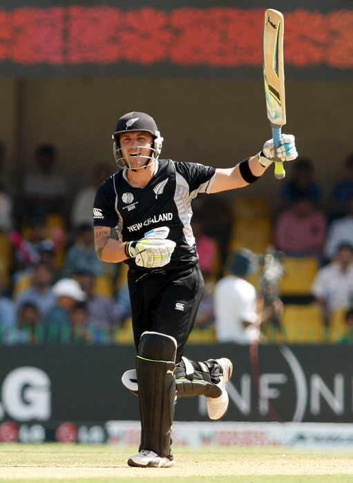 McCullum got his act together after a slow start and completed his fifty as New Zealand edged towards the Zimbabwe total. (Getty Images)