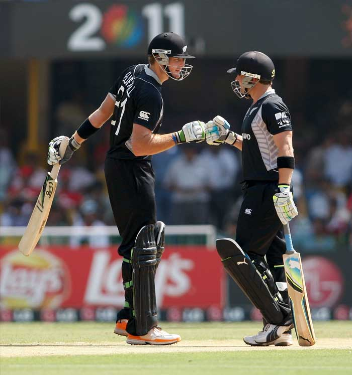 New Zealand cruised to a 10-wicket win over Zimbabwe as opening batsmen Martin Guptill and Brendon McCullum had an easy going on a flat track. (Getty Images)