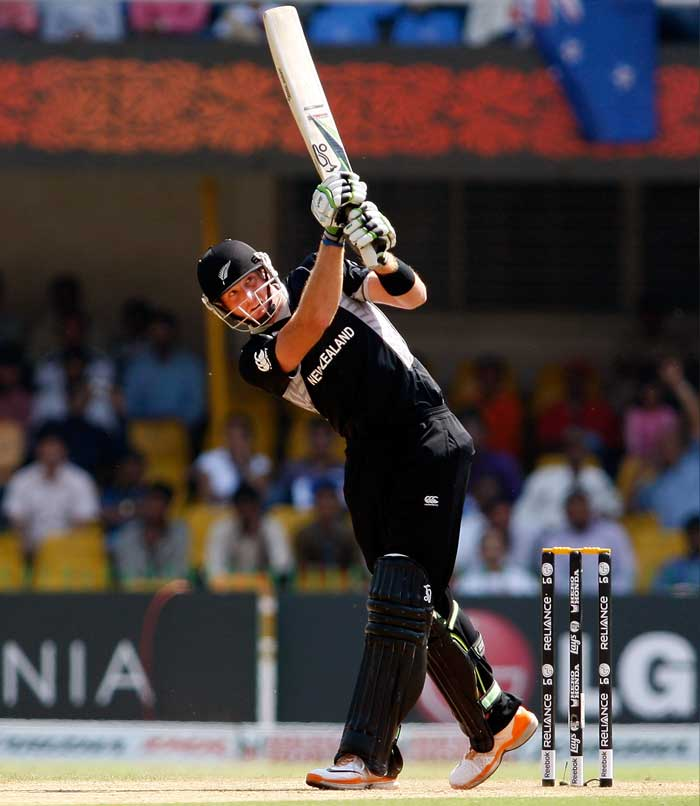 Guptill showed an aggressive intent for most parts as New Zealand passed the 50-run mark without losing a wicket. (Getty Images)