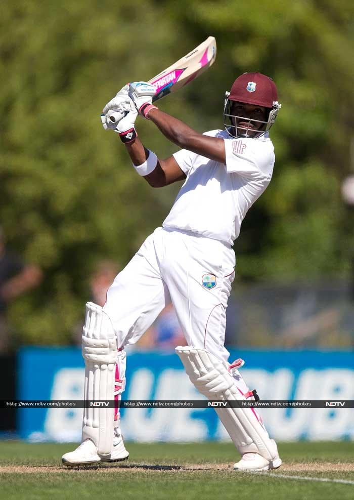 Kirk Edwards scored a 55 but lost out on partners in West Indies' first innings as they were all out for 193.