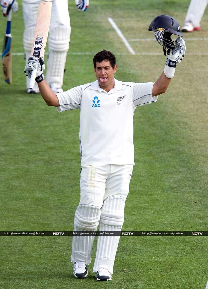 Ross Taylor scored 129 as New Zealand posted 441 runs in their first innings.
