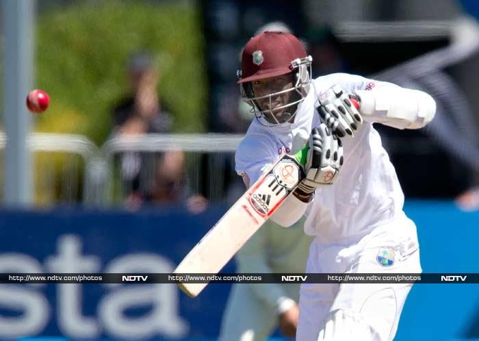 West Indies battled to avoid a third consecutive innings defeat on Thursday, ending day three of the first Test against New Zealand on Thursday at 168-2, still 228 runs short of making the home side bat again. Kirk Edwards scored 59.