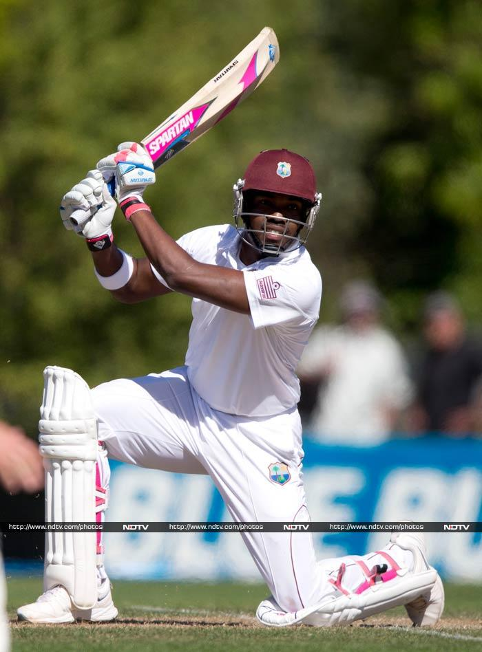 A maiden double-century by Darren Bravo stalled New Zealand's victory drive Friday as the West Indies ended day four of the first Test in Dunedin at 443-6, a lead of 47. (All AFP images)