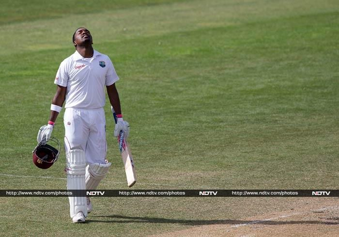 After an early morning collapse in which the West Indies slumped to 185-4, the defiant Bravo restored order with a controlled performance to pass the 100 mark for the fifth time in his career and be not out 210 at stumps.