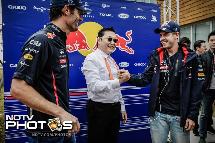 Vettel and team-mate Mark Webber were ecstatic, or so it seemed, learning the dance from the Korean in the paddock before the race.