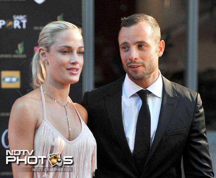 Pistorius and Reeva at the Feather Awards held at Melrose Arch in Johannesburg.