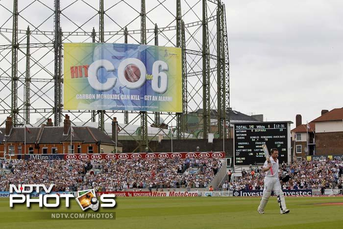 Rain poured heavy in London on Saturday, so did runs for England and wickets against India. A look at the day's play. (AFP and AP images)