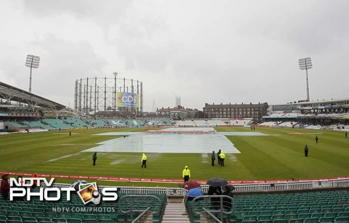 The opening session ended with England on 591 for 6. The post-lunch session however could not resume for several hours due to heavy showers and the hosts decided to declare the innings.
