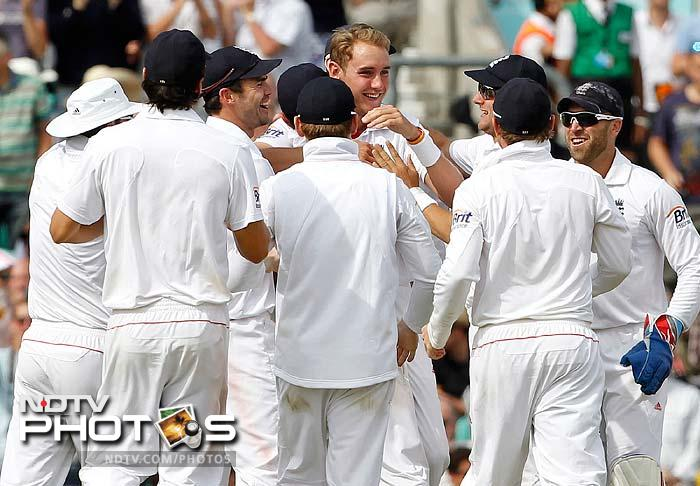 England hunt in packs and Stuart Broad proved it again. Once Sachin left, Broad came in and got rid of MS Dhoni and RP Singh.