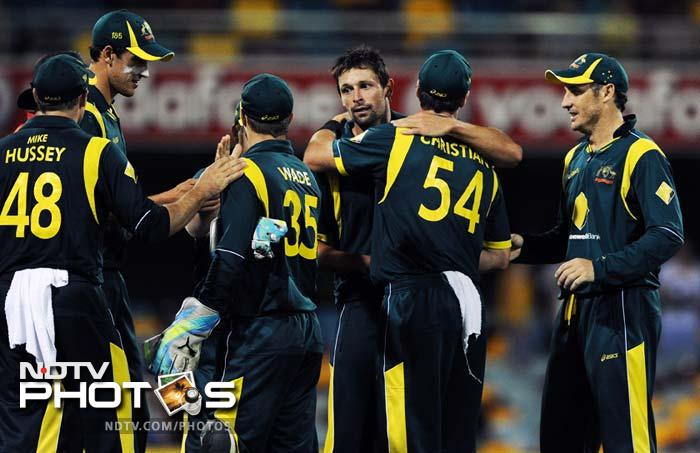 After losing two games on the trot, Australia came back with a bang inflicting a 110-run loss and winning a bonus point against India. The hosts now have a 4-point lead over India in the points table. (All AFP and AP Images)