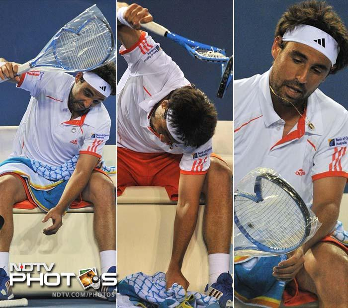 Marcos Baghdatis of Cyprus was not too happy either. He had himself to blame as despite fighting hard in a five-setter, his opponent in Stanislas Wawrinka of Switzerland took the match. Roger Federer had received a walkover.