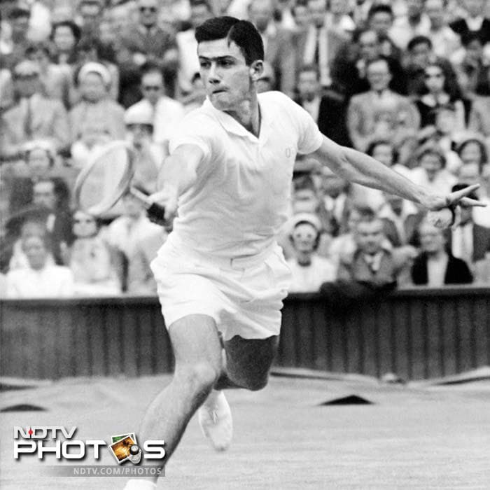 <b>Ken Rosewall - Australian champion 1953, 1955, 1971</b><br><br> Nicknamed muscles, Rosewall had a deadly backhand. It lasted him for a long duration Down Under and served him well.<br><br> He became the youngest winner of the tournament in 1953 at an age of 18, turned professional four years later and continued his form till the end of his playing days.