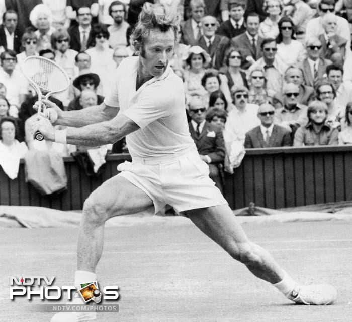 <b>Rod Laver - Australian champion 1960, 1962, 1969</b><br><br> In 2000, Melbourne Park's center court was re-named Rod Laver Arena. It speaks volumes on what this player achieved during his playing years..the only man in history to have achieved a double Slam.