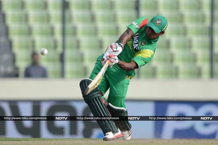 Anamul, combined with Imrul Kayes (in pic) put on 150 for the opening wicket.