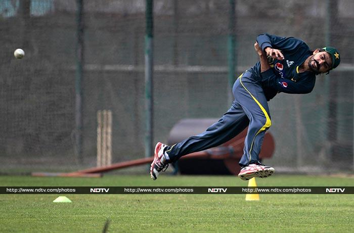 Talent is not in short measure in the Pakistan team.<br><br> Skilled all-rounder Fawad Alam is seen here during a fielding drill and players like him can be dangerous against India unless the Men in Blue devise definite strategies to combat their threat. <br><br>Overall, cricket is expected to win once again regardless of the result as a packed stadium is expected for the epic clash.