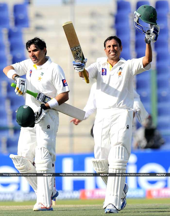The first innings was dominated by twin tons from Misbah-ul Haq and Younus Khan that helped Pakistan take a sizeable lead over Sri Lanka.