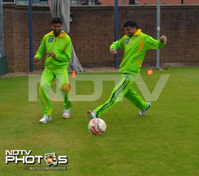Pakistan may be out of Champions Trophy but the national players can still gift its fans a lot - a win against arch-rivals India.<br><br>After being forced to train indoors due to rain, players got a chance to train in the open ahead of the Edgbaston match. A look...