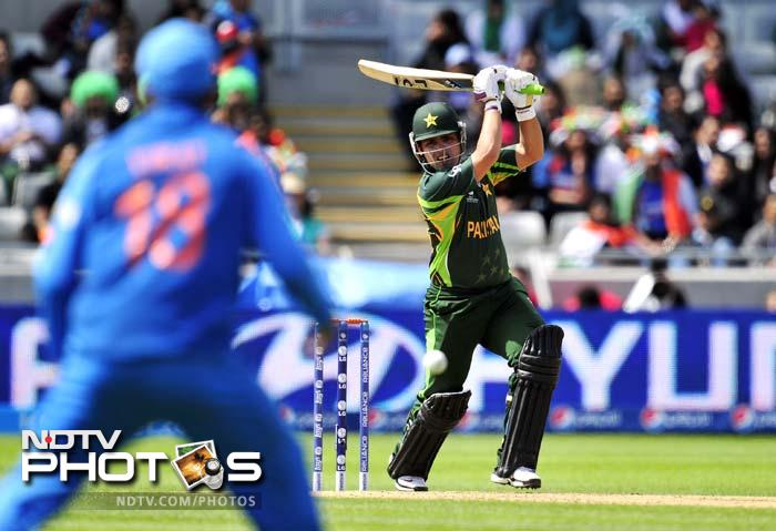 Even the introduction of spin didn't spare Pakistan as R Ashwin dismissed Kamran Akmal (21 off 38) in the 16th over.