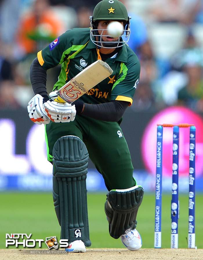 Asked to bat by India, Pakistani opener Nasir Jamshed - a solitary pillar in the batting arsenal so far - failed to get going.