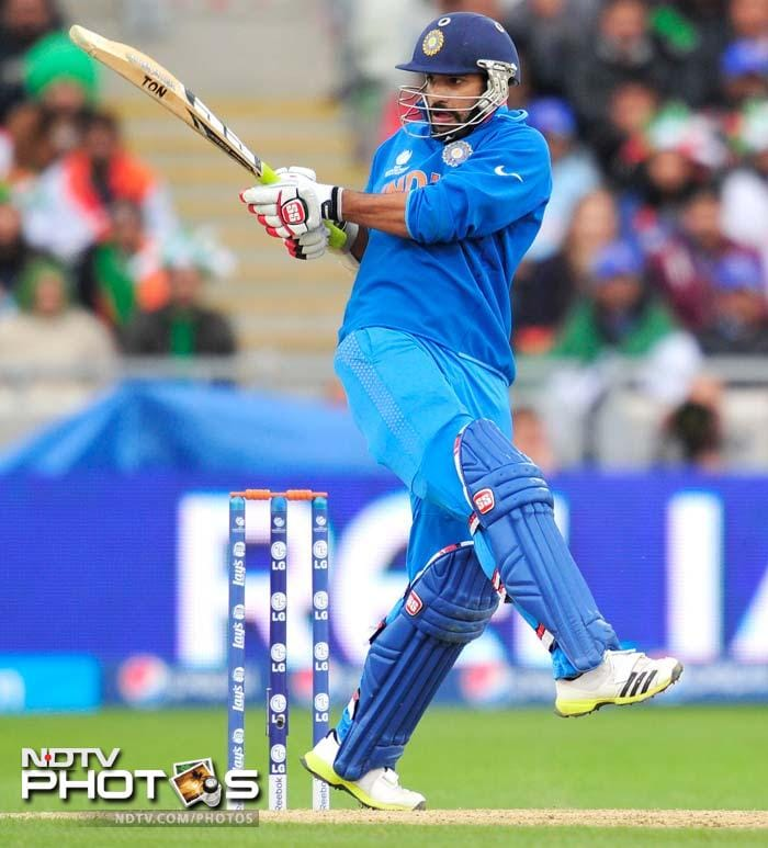 In reply, Shikhar Dhawan got India off to a solid start.<br><BR> While there were several rain interruptions threatening to wash the match out, Dhawan came back each time to keep the scoring ticking.
