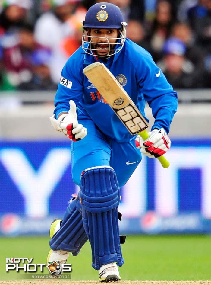 Dhawan was also eventually removed on 48 but by then, India had almost brought down the target.<br><br>Virat Kohli and Dinesh Karthik guided the team through.