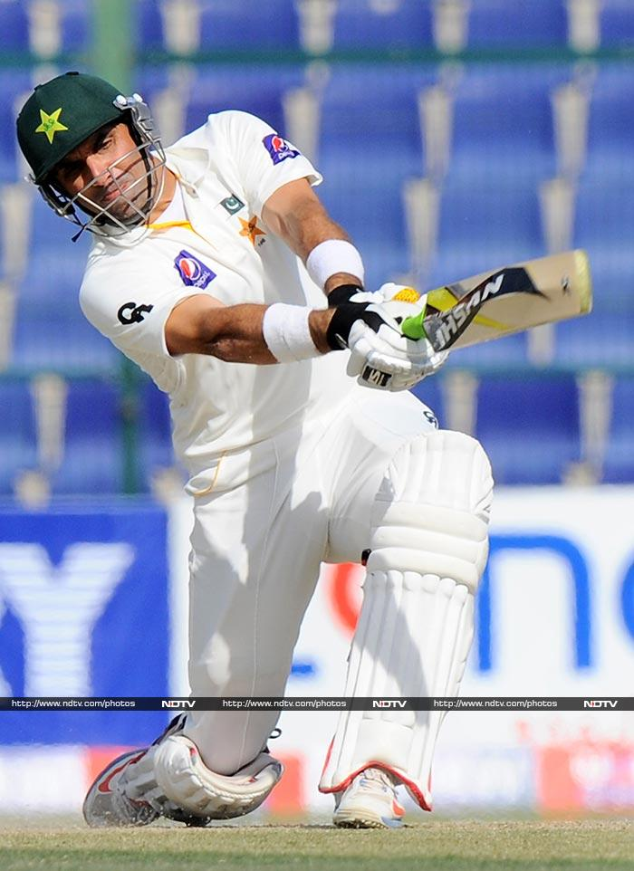 While Sri Lanka ended the day on 186/4, it was Misbah-ul-Haq's century which had earlier highlighted the proceedings.<br><br>He scored 135.
