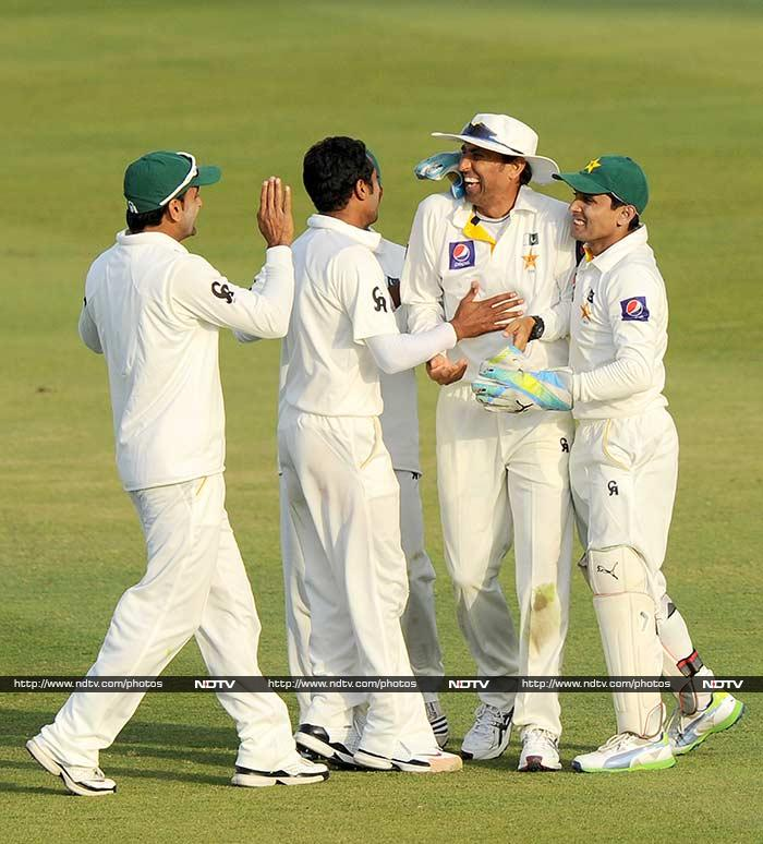 Pakistan took control of the opening Test against Sri Lanka on Thursday. On Day 3 of the Test - being played in Abu Dhabi, young Bilawal Bhatti struck twice to hurt the opposition and restrict them to a lead of just seven with six wickets left, on Day 3. <br><br>Images courtesy AFP.