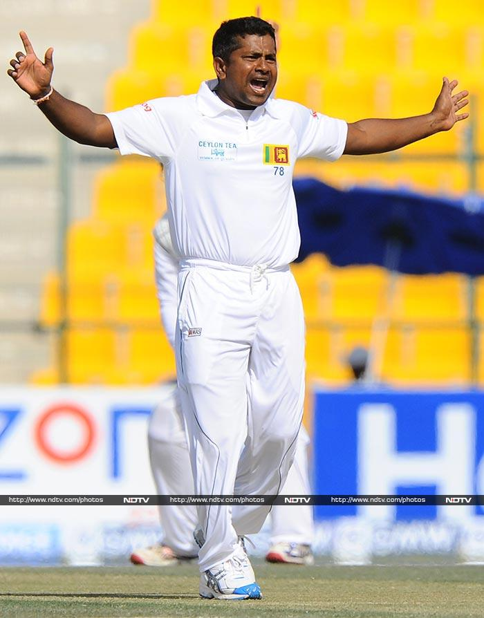It was Rangana Herath who finally ended Misbah's innings.<br><br>His team though now has an uphill task of mounting a challenging target with the bat.