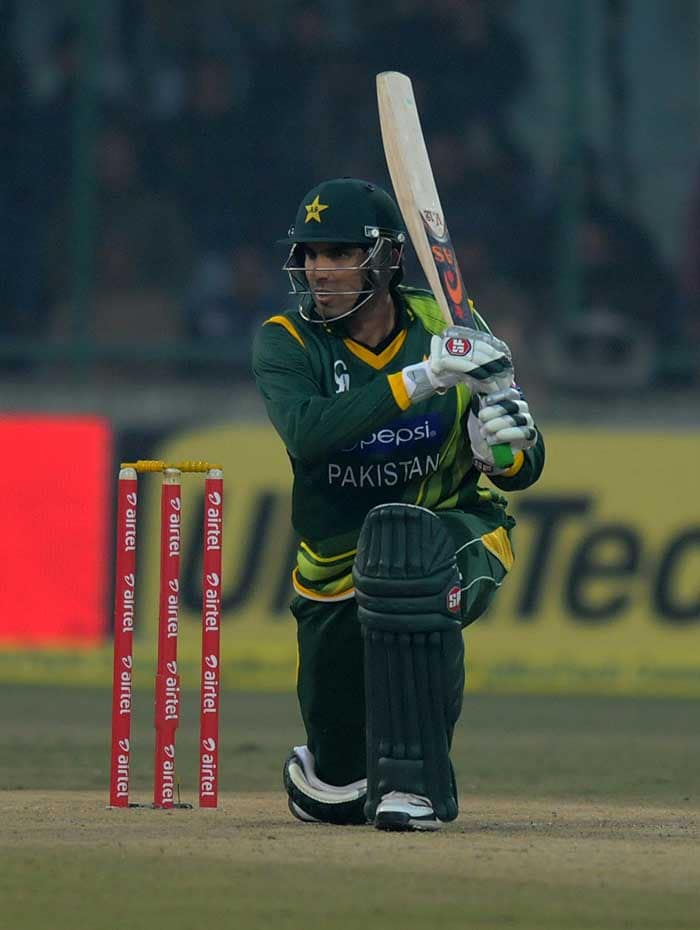 Pakistan skipper Misbah-ul-Haq though cemented the innings and kept the score ticking. (Image courtesy: BCCI)