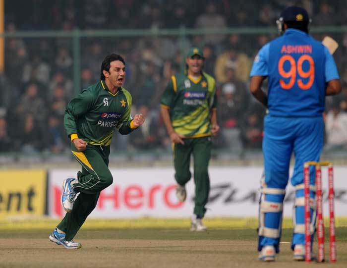 Saeed Ajmal inflcited maximum damage as the middle-order paved way for the tail. His five-wicket haul stopped India on 167. (Image courtesy: BCCI)