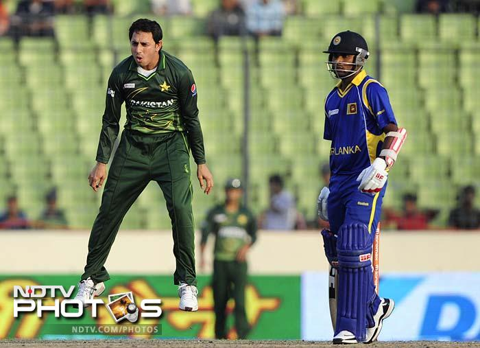Saeed Ajmal was the other success for Pakistan with the ball. He claimed three wickets for his side.
