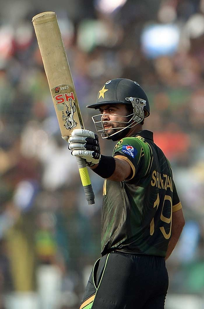 Shehzad stood tall among the ruins to propel his team to 190/5 in 20 overs vs Bangladesh.