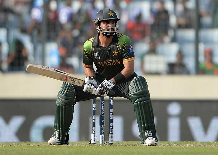 Ahmed Shehzad (111 not out off 62 balls) was in the mood to take the attack to the Bangladesh bowlers from the word go. (All images AFP).