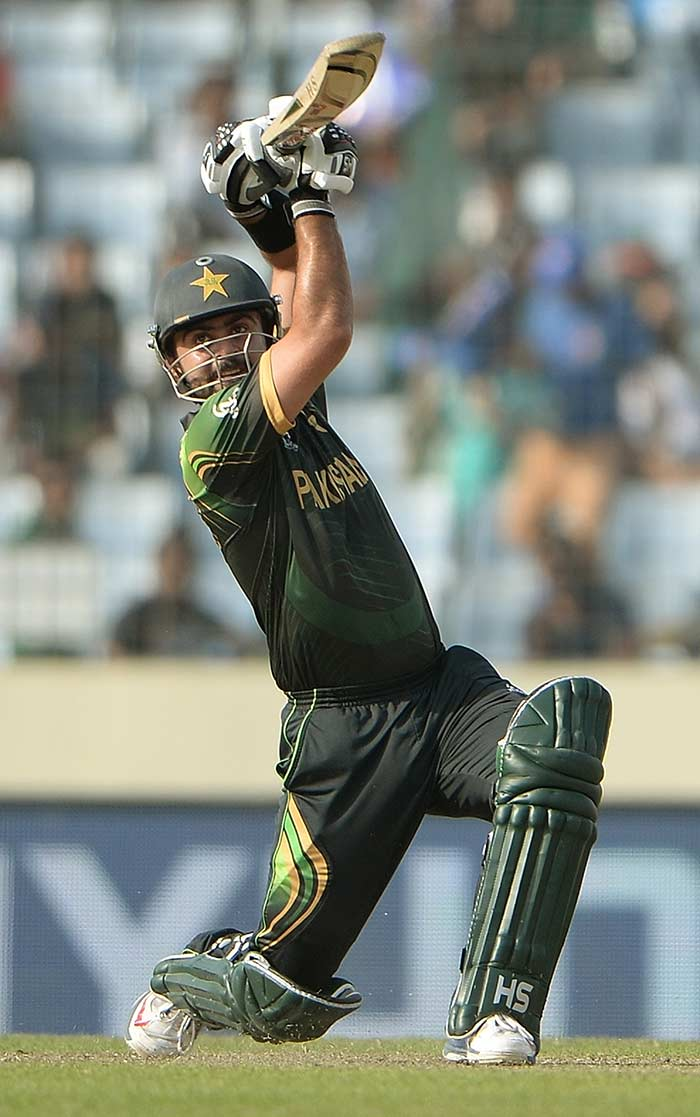 Shehzad's swashbuckling knock included 10 fours and five sixes.