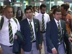 Photo : Pakistan cricket team arrives in India
