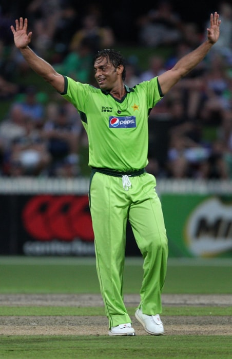 <b>SHOAIB AKHTAR</b><br><br> <b>Age: </b>35.<br><b>Role: </b>Right-hand batsman, Right-arm fast<br> <b>Stats: </b>ODIs 160, Runs 394, Highest 43, Average 9.16, Strike-Rate 73.50, Catches 20, Wickets 244, Best bowling 6-16, Average 24.78, Economy-Rate 4.76<br><br> Akhtar's career has been marred by controversies over his action, fitness levels and indiscipline. He was banned for two years on a failed dope test which was later overturned on appeal in 2006. Wants a last fling at the World Cup.(Photo: Getty Images)
