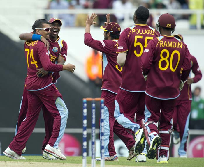 The West Indies took crucial wickets towards the end to finish Pakistan's innings at 170.