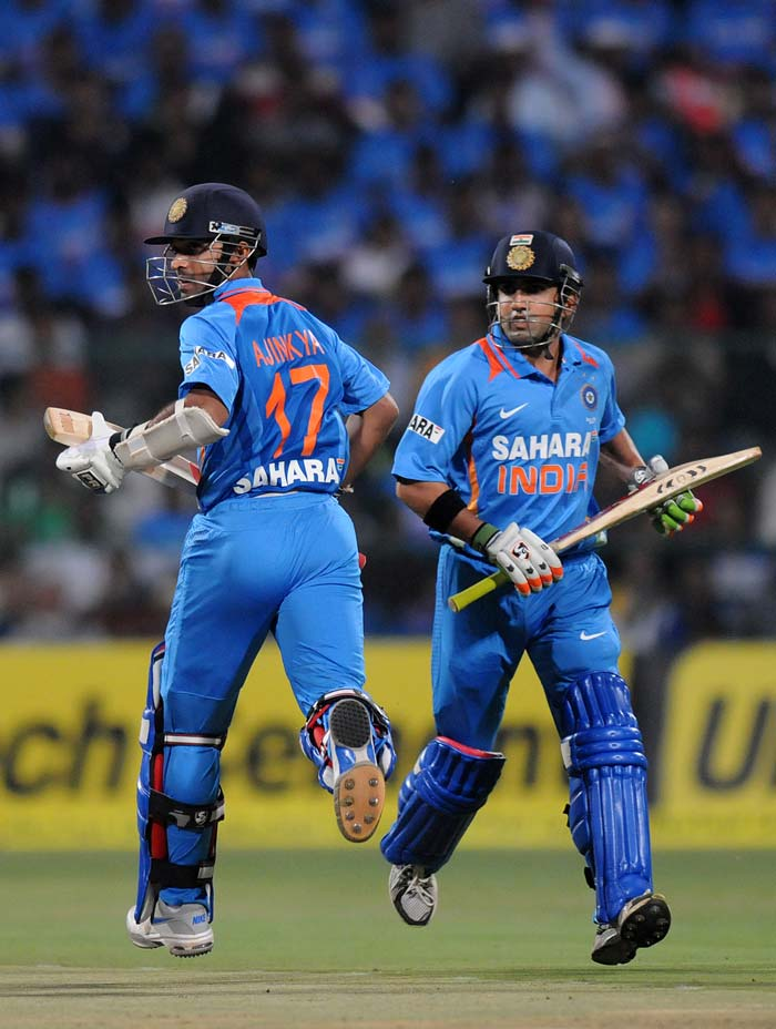 India's openers gave them the perfect start as Ajinkya Rahane and Gautam Gambhir put on 77 for the first wicket. (BCCI Photos)