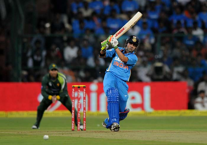 Gambhir looked in good touch stroking a well made 43 and looked to regain lost form. (BCCI Photos)
