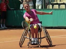 Netherlands' Esther Vergeer won her fourth Paralympic title. With a string of close to 450 wins on the trot, she has shown that tennis does not known any bounds.
